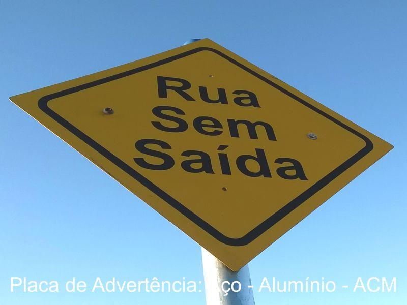 Placa de Sinalização Vertical Advertência - BLemonte São Carlos 16-3416.8104