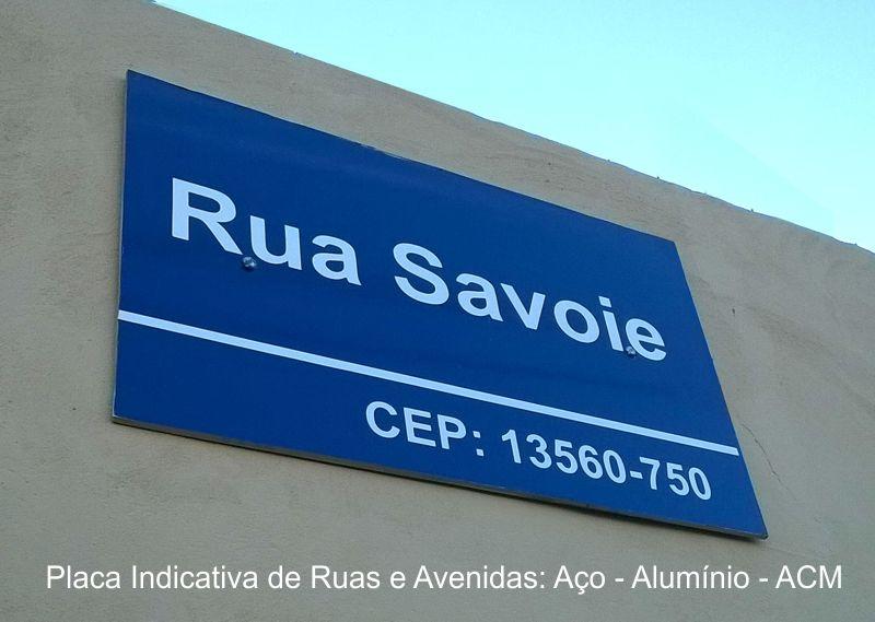 Placa de Sinalização Vertical Indicação de Ruas e Avenidas BLemonte - São Carlos - 16-3416.8104