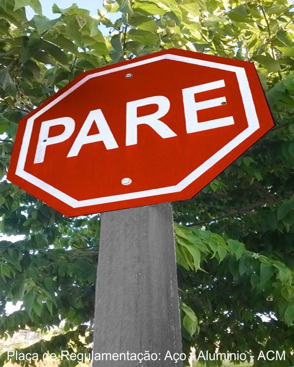 Placa de Sinalização Vertical Regulamentação - BLemonte São Carlos 16-3416.8104