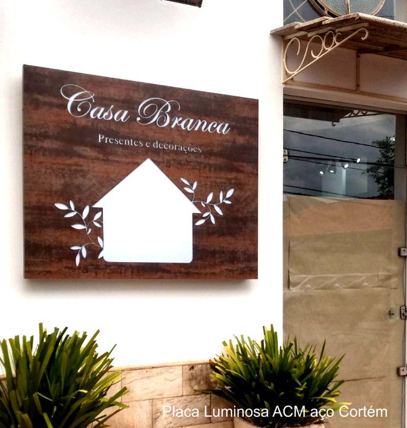 Placa Luminosa ACM Aco Cortem - B.Lemonte - Sao Carlos - Fone 16-99771.5035